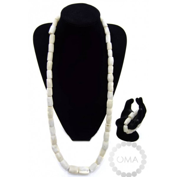 Men one layer real ivory coral necklace
