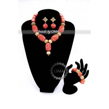 Classy single layer core coral necklace