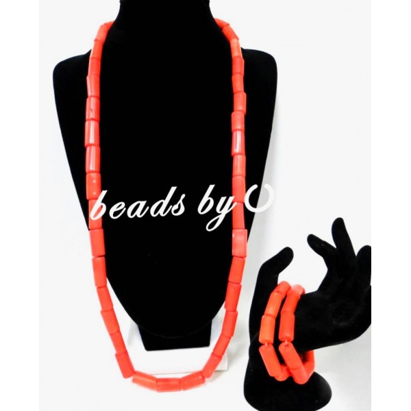 Men one layer genuine coral necklace