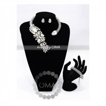 Clear Diamante Cuff Design Necklace