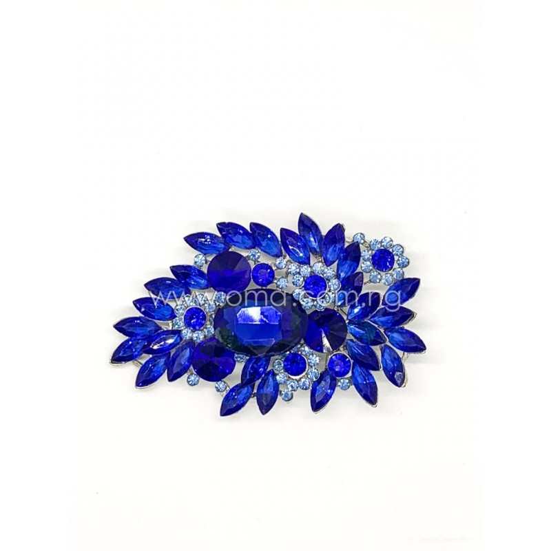 Blue Crystal brooch, Rhinestone brooch