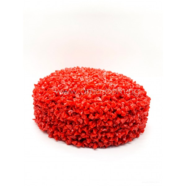 Handmade Red Coral colour Beaded broken beads cap