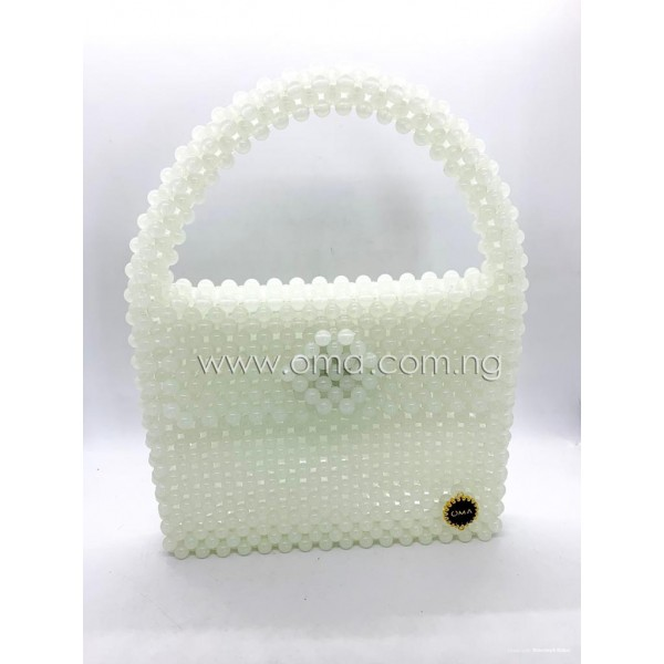 Glow in the dark beaded mini tote bag