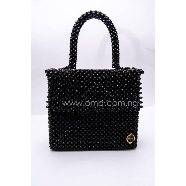 Black Tote Black crystal bag